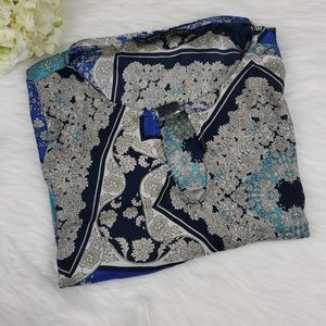 Zara Basic Tunic Mini Blue Dress